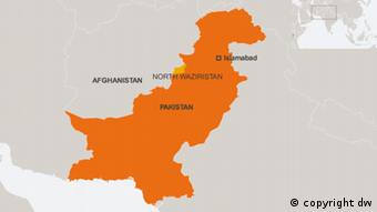 Map Pakistan Islamabad Afghanistan North Waziristan