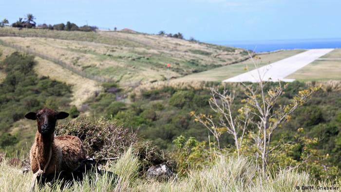 ВПП на острове Монтсеррат