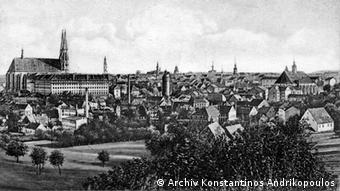 Καρτ ποστάλ που απεικονίζει το Γκέρλιτζ το 1917