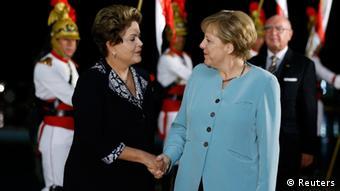 Dilma Rousseff Angela Merkel Treffen Brasilien
