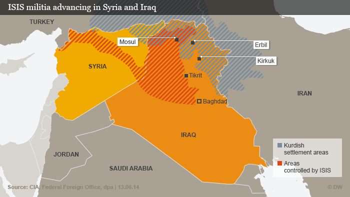 ENG Map ISIS in Iraq and Syria