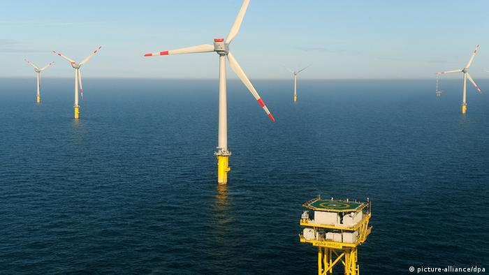 Deutschland Windenergie Offshore-Windpark Alpha Ventus