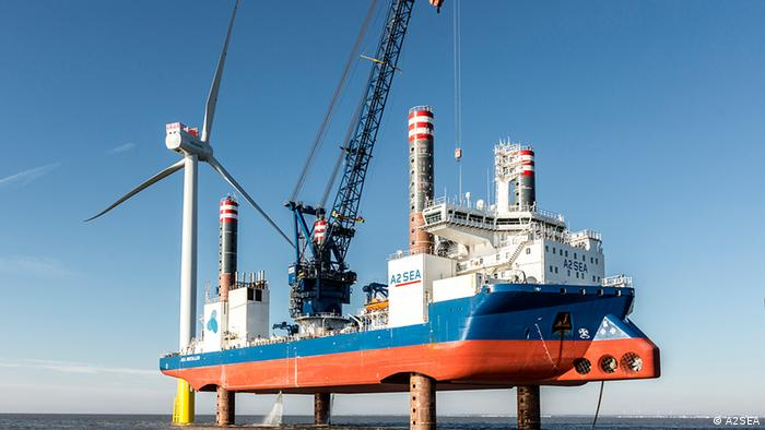 Dänemark Deutschland Windenergie Offshore-Windpark A2SEA