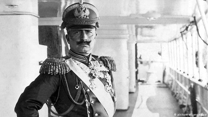 Kaiser Wilhelm II with regalier