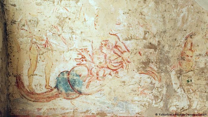 Фреска каролингской эпохи на сюжет античной мифологии в монастырском храме
