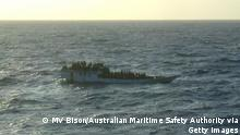 Flüchtlingsboot Australien Archiv 2012 (MV Bison/Australian Maritime Safety Authority via Getty Images)