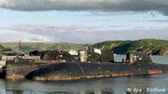 A Russian submarine rotting near Murmansk