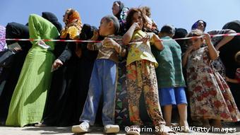 Irakische Fllüchtlinge in Erbil im Nordirak (Foto: KARIM SAHIB/AFP/Getty Images)