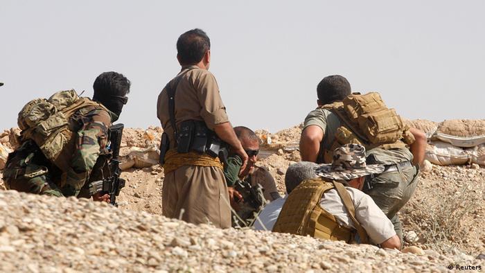 پیشمرگههای اقلیم کردستان عراق در نبرد با نیروهای داعش