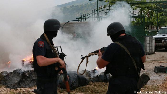 Albanien Drogenrazzia in Lazarat