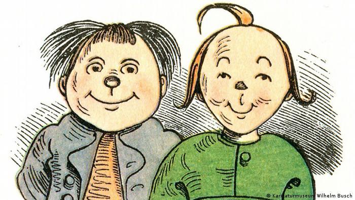 Zeichnung von Max und Moritz (Foto: Karikaturmuseum Wilhelm Busch)