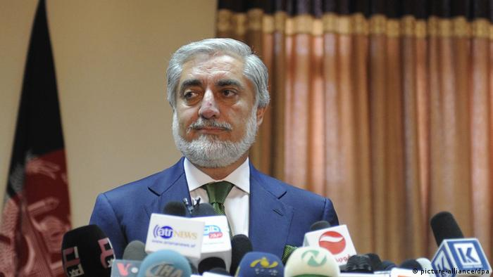 Abdullah Abdullah Kandidat Wahlen Afghanistan (picture-alliance/dpa)