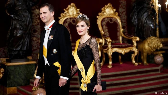 La pareja real española, Felipe VI y Letizia.