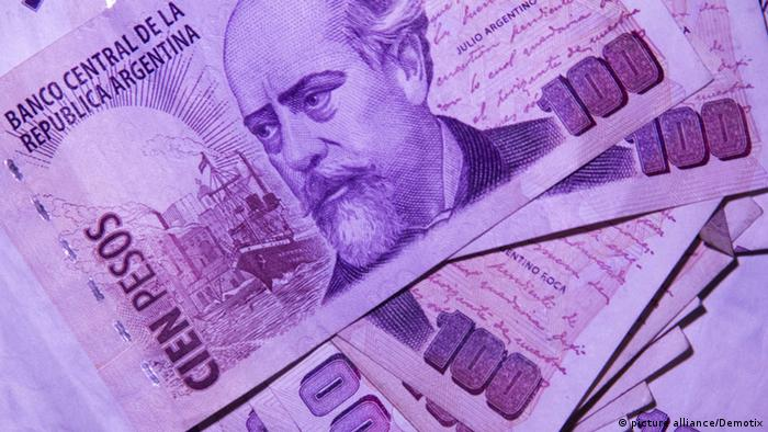 Banknotes from Argentina
