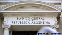 Buenos Aires, Argentina. 23rd January 2014 -- Front of the National Central bank building. -- Financial district of the Buenos Aires in Argentina.