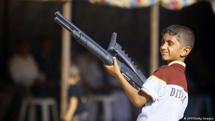 Irak Freiwillige Kämpfer Kind