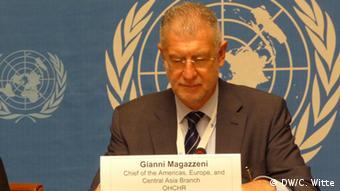 Gianni Magazzeni, Chef der Abteilung Amerika, Europa und Zentralasien im Genfer UN-Hochkommissariat für Menschenrechte (Foto: DW/Witte)