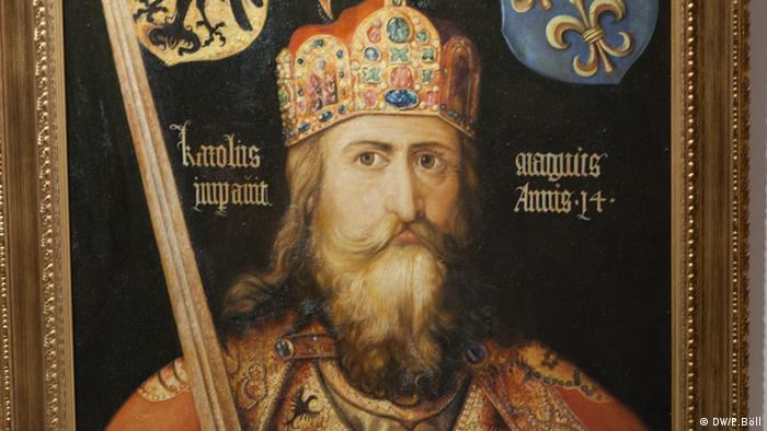 A portrait of Charlemagne based on a painting by Albrecht Dürer (DW/P.Böll)