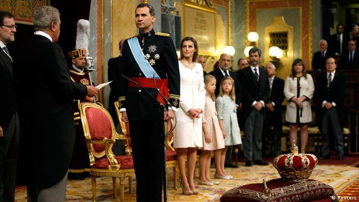 Церемония коронации Фелипе VI в Мадриде