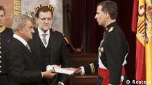 König Felipe VI Krönung Vereidigung