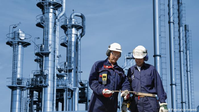 Работники нефтегазового сектора