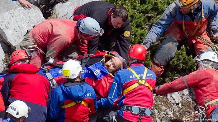 Untersberg Rettung Johann Westhauser Riesending Schachthöhle (picture-alliance/dpa)
