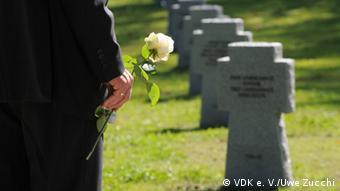 Одно из кладбищ немецких солдат, захороненных в России