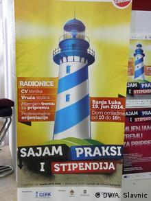 Plakate für die Messe - Praxis und Stipendien in Banja Luka