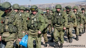 Российские солдаты на марше