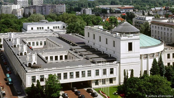 Здание парламента Польши в Варшаве