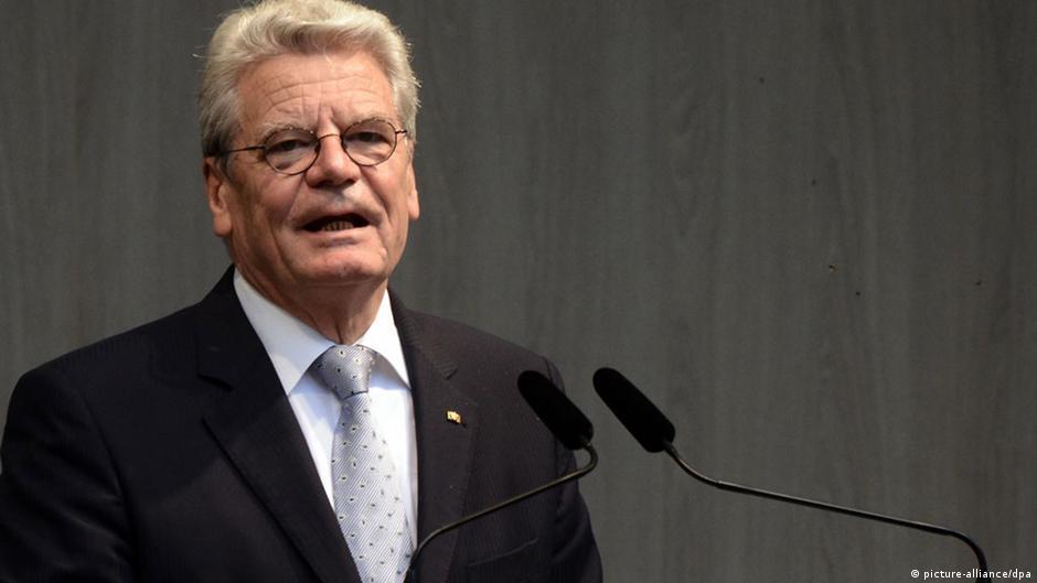 الرئيس غاوك: فقط الحل السياسي في غزة سيحقق السلام   DW   01.08.2014