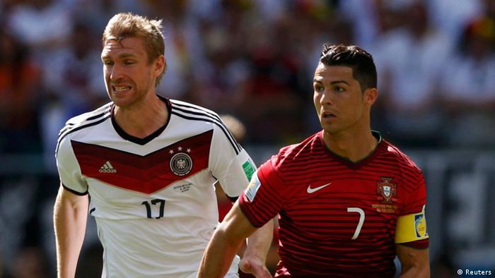 Ronaldo and Per Mertesacker