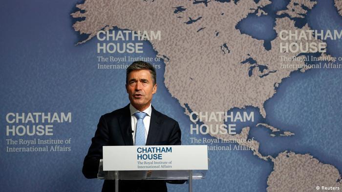 Генеральний секретар НАТО Андерс Фог Расмуссен під час промови в аналітичному центрі Chatham House в Лондоні
