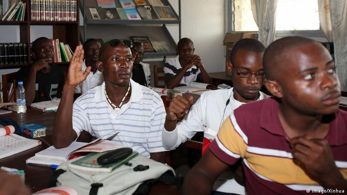 Students of Confucius Institute learn Chinese in the Republic of Congo