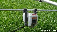 Sensoren im Feldeinsatz: Spektralsensor an Sensorkarre