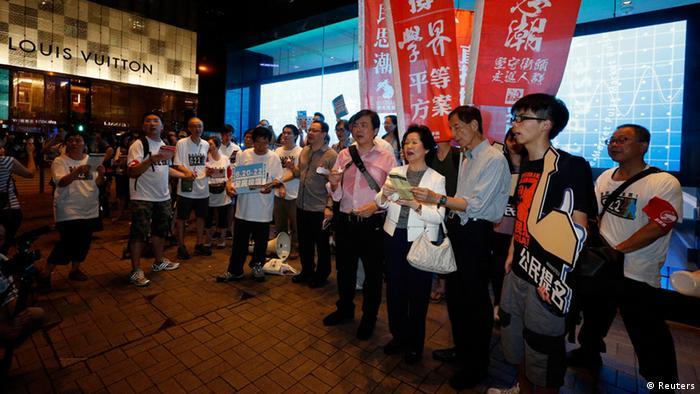 Hongkong Referendum für mehr Demokratie Demonstration 20.06.2014