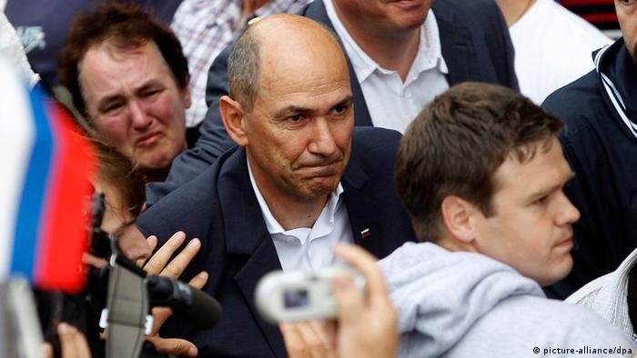 Slowenien Janez Jansa Antritt Haftstrafe 20.06.2014