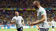 WM 2014 Gruppe E 2. Spieltag Schweiz Frankreich