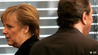 Koalitionsverhandlungen Angela Merkel Gerhard Schröder