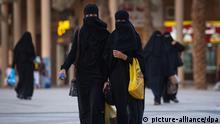 Verschleierte Frauen in Riad in Saudi-Arabien