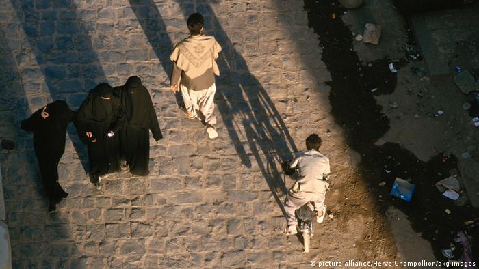 Verschleierte Fraun in Sanaa Jemen
