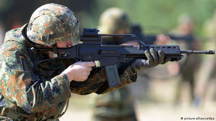 Bundeswehr Reservist with G36