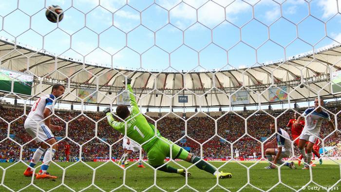 WM 2014 Gruppe H 2. Spieltag Russland - Belgien Tor