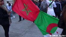 Moroccans supporting the Algerian team. Copyright: Ayoub Errimi, DW arabisch, Rabat, 18.6.2014