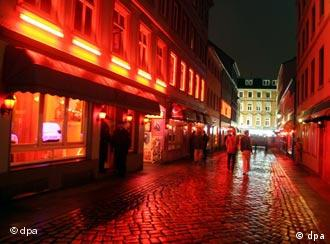 A street in the red-light district in Hamburg.
