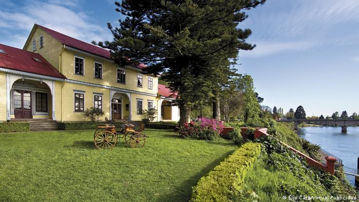 Häuser und deutsche Architektur in Valdivia Südchile