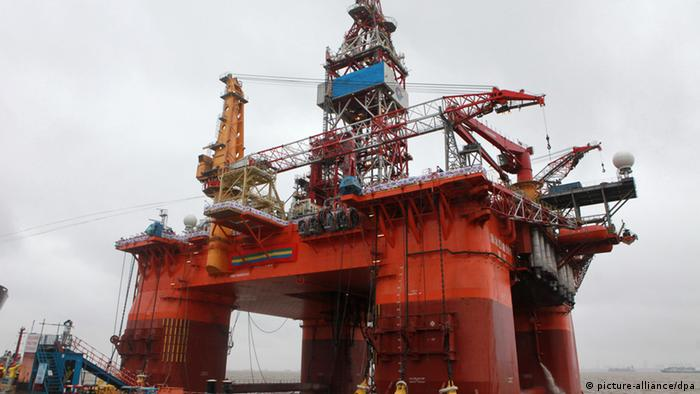 The deepwater drilling rig, Offshore Oil 981, is pictured at the shipyard of Shanghai Waigaoqiao Shipbuilding Co., Ltd. in Shanghai, China, 23 May 2011.
