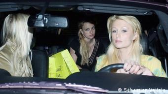 Paris Hilton and Britney Spears in a car, Copyright: Sébastien Valiela
