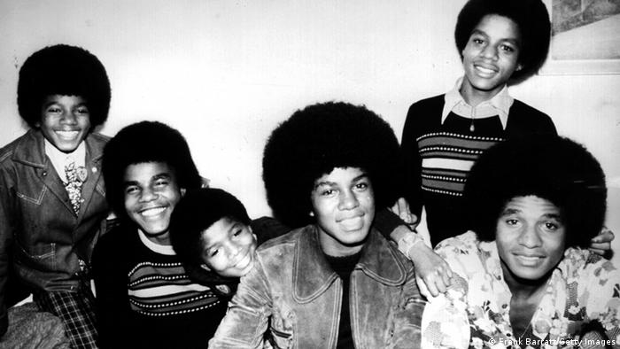 Michael Jackson with his brothers of the group Jackson Five