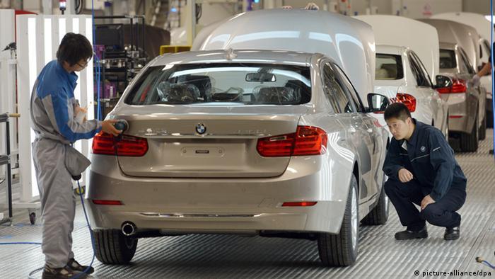 Одна из фабрик по сборке BMW в Китае